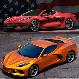 2020 Chevrolet Corvette produced in USA
