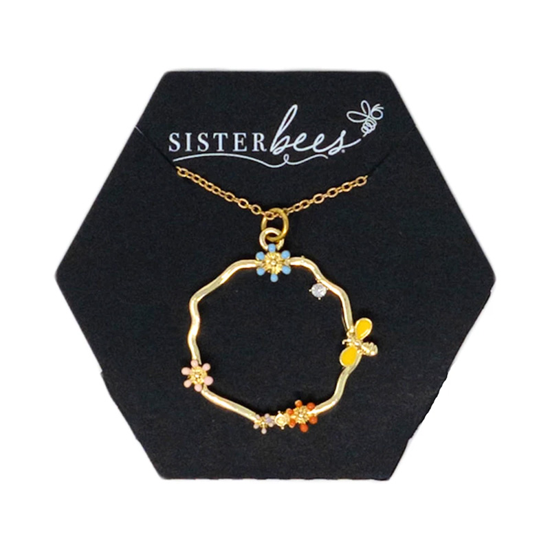 sister bee necklace